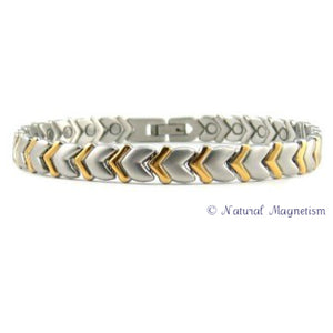 Cupid's Arrow Two-Tone Titanium Magnetic Bracelet