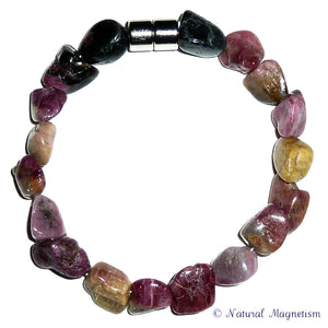 Rainbow Tourmaline Gemstone Nugget Bracelet