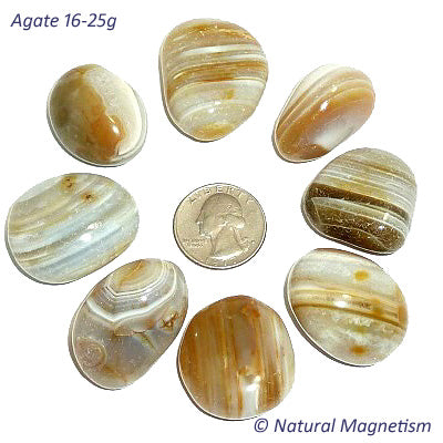 Agate Tumbled Stones | Large 16-25 grams