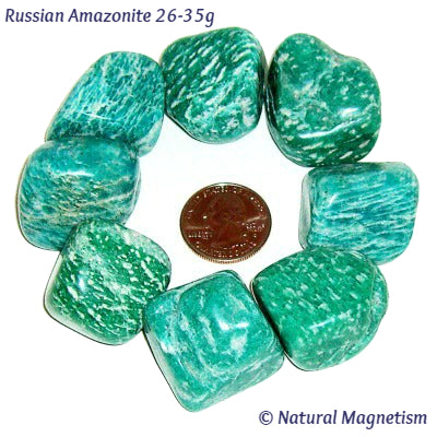 X-Large Amazonite Tumbled Stones From Russia
