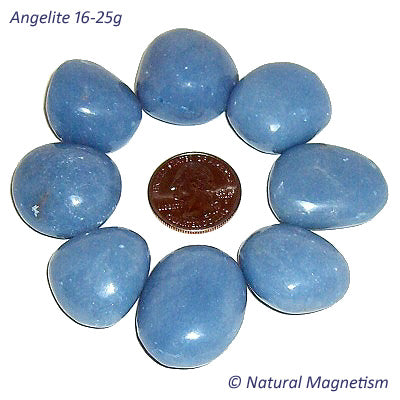 Large Angelite Tumbled Stones From Peru