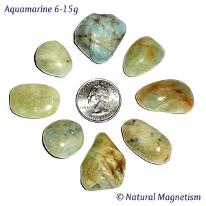 Aquamarine Tumbled Stones From Brazil
