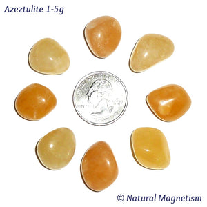 Small Azeztulite Tumbled Stones From India