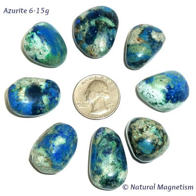Medium Azurite Tumbled Stones From Peru