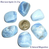 Large Blue Lace Agate Tumbled Stones