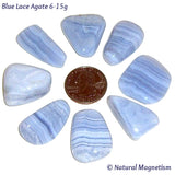 Medium Blue Lace Agate Tumbled Stones