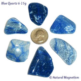 Medium Blue Quartz Tumbled Stones From Brazil