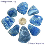 X-Large Blue Quartz Tumbled Stones From Brazil
