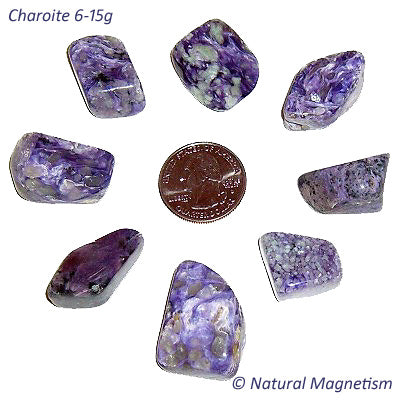 Medium Charoite Tumbled Stones From Russia