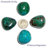 Jumbo Chrysocolla Tumbled Stones From Peru