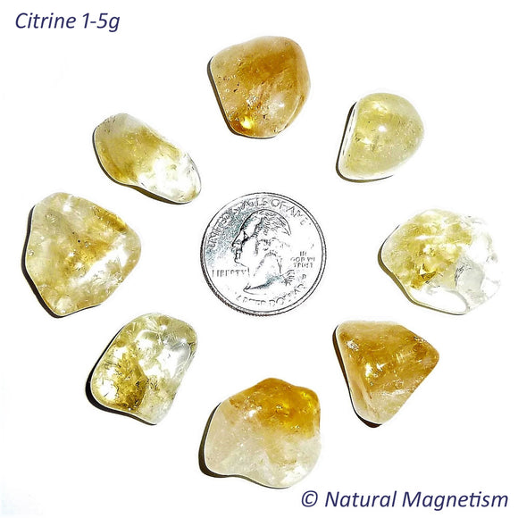 Small Citrine Tumbled Stones From Brazil
