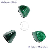 Malachite Tumbled Stones From Africa 46-55 grams