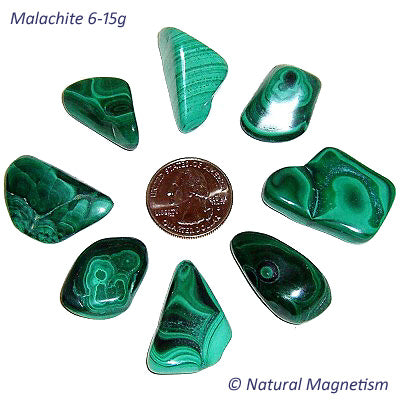 Medium Malachite Tumbled Stones From Africa