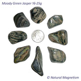 Large Moody Green Jasper Tumbled Stones From Arizona AKA Zebra Jasper