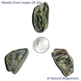 X-Large Moody Green Jasper Tumbled Stones From Arizona AKA Zebra Jasper