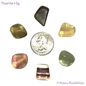 Small Rainbow Fluorite Tumbled Stones from Africa