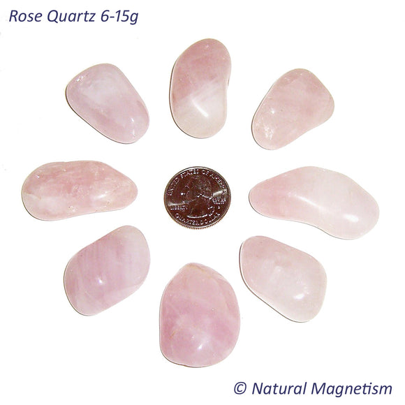 Medium Rose Quartz Tumbled Stones From Africa