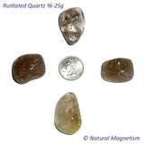Large Rutilated Quartz Tumbled Stones From Brazil