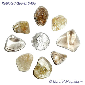 Medium Rutilated Quartz Tumbled Stones From Brazil