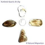 X-Large Rutilated Quartz Tumbled Stones From Brazil