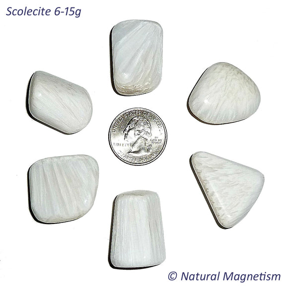 Medium Scolecite Tumbled Stones From India