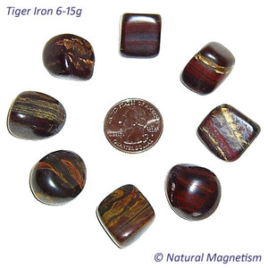 Medium Tiger Iron Tumbled Stones From Australia