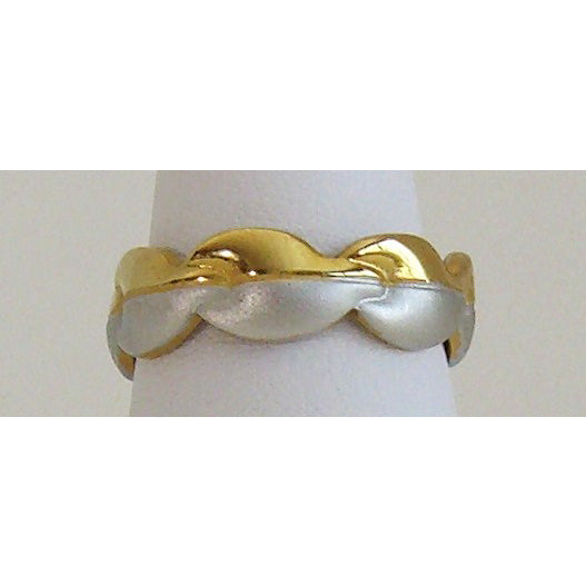 Two-Tone Autumn Leaf Neodymium Magnetic Ring