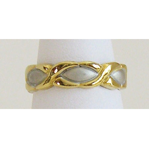 Two Tone Hugs N Kisses Neodymium Magnetic Ring