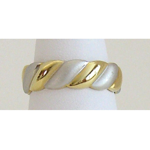 Two Tone Wave Neodymium Magnetic Ring