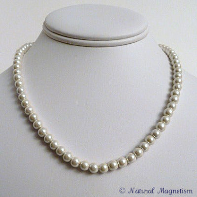 White Pearl Magnetite Magnetic Necklace | Magnetic Jewelry