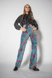 Francoise Blue Eyes Velvet Pants