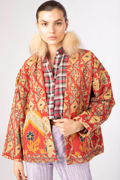 One Of A Kind Maggie Kantha Jacket - Small