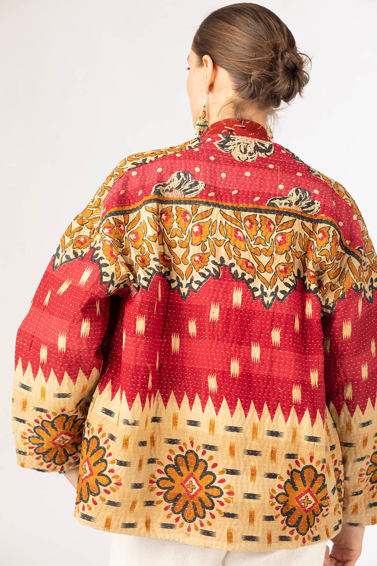 One Of A Kind Yasmine Kantha Jacket - Medium