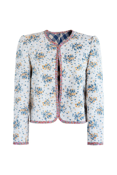 Posey Applique Flower Jacket