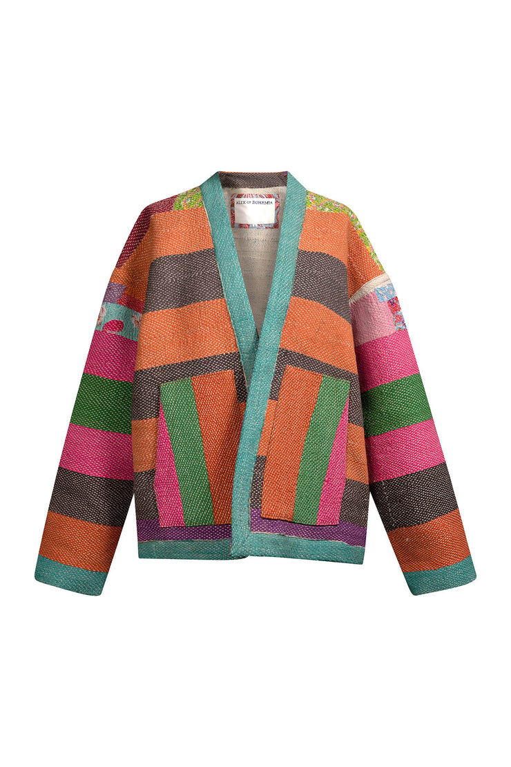 One Of A Kind Liv Kantha Jacket - Medium