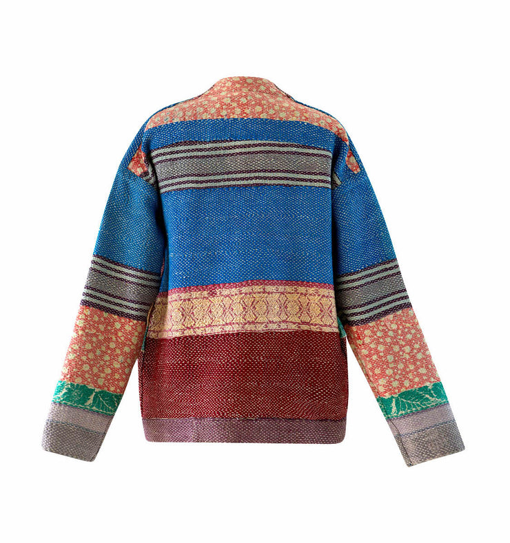One Of Scout Stripe Kantha Kimono Jacket - Medium