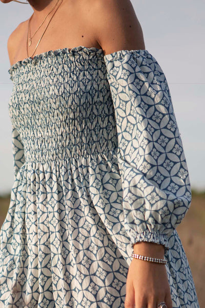 Maryanne Blue Batik Dress