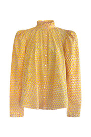 Annabel Molly Star Block Print Blouse