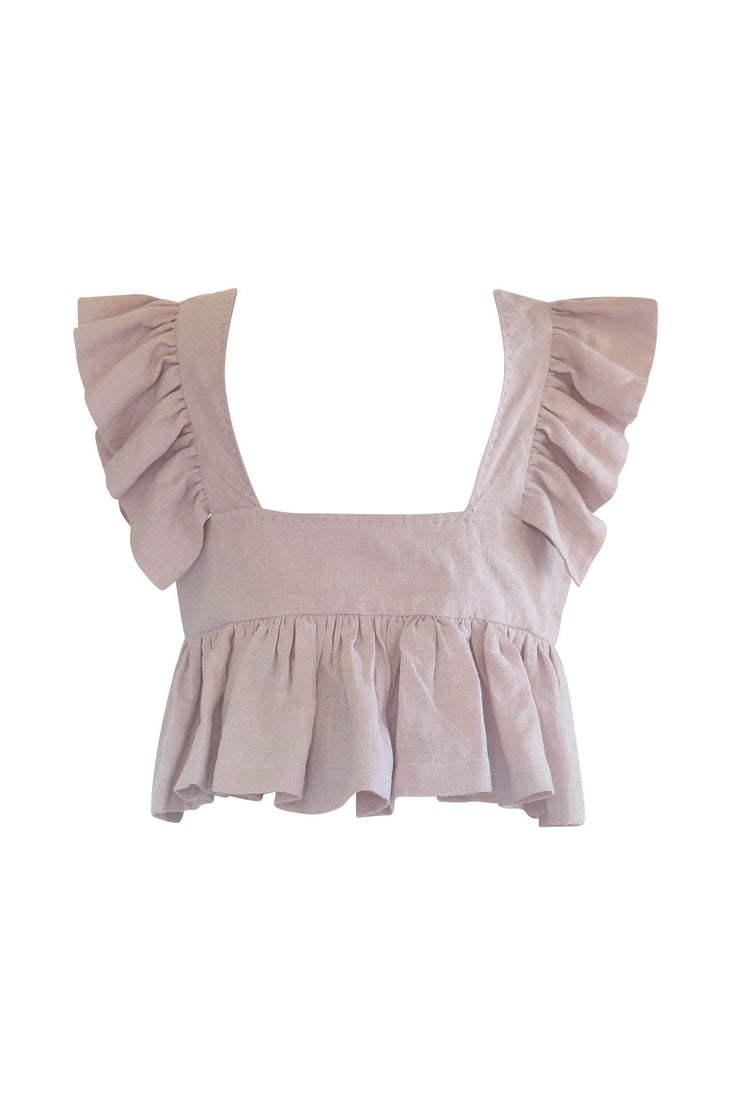 Francesca Pinafore Ruffle Top