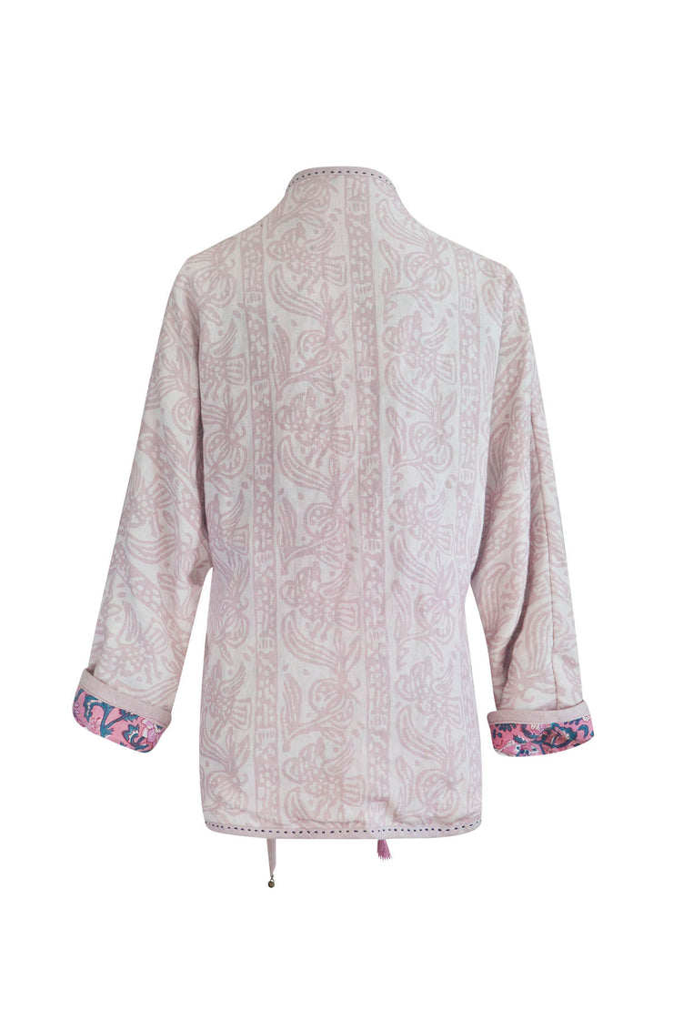 Volga Tea Rose Reversible Side Tie Jacket
