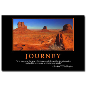 Journey - Motivational Quote Education Art Silk Poster