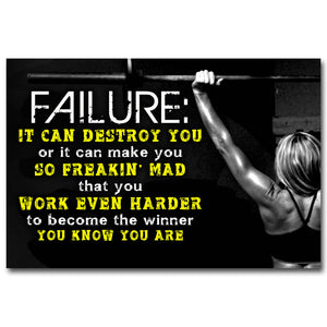 Motivational Quotes Art Silk Poster 12x18 24x36inch Fitness Exercise Wall Pictures Gym Room 023