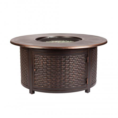 Florence Woven Aluminum LPG Fire Pit             F62373 - PATIO AND FIREPLACE CONCEPTS