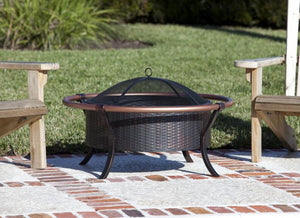 Copper Rail Fire Pit                                                                      F60859 - PATIO AND FIREPLACE CONCEPTS