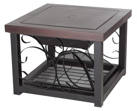 Hammer Tone Bronze Finish Cocktail Table Fire Pit                                   F61331 - PATIO AND FIREPLACE CONCEPTS