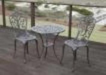 Faustina Antique Bronze 3pc Bistro Set                                  F61908 - PATIO AND FIREPLACE CONCEPTS