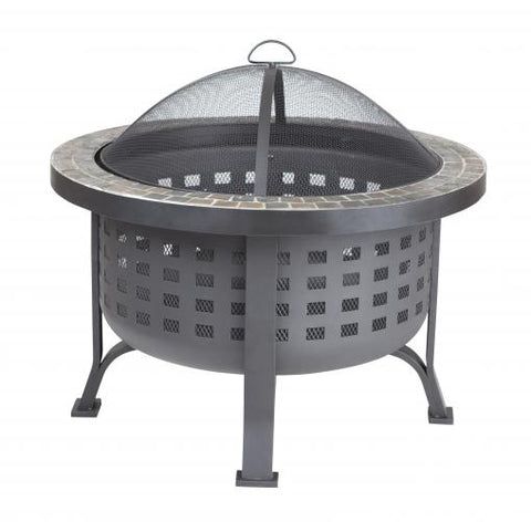 Alpina Round Slate Top Fire Pit                                    F62240 - PATIO AND FIREPLACE CONCEPTS