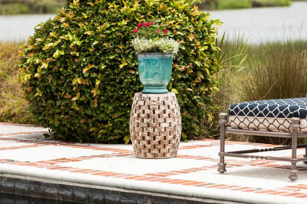 Maya Oval Garden Stool                     F62419 - PATIO AND FIREPLACE CONCEPTS