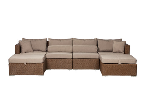Teagarden Wicker Sectional Set                 F62541 - PATIO AND FIREPLACE CONCEPTS