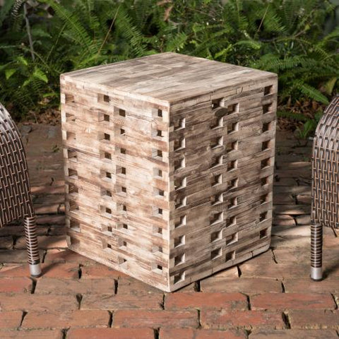 Parker Square Garden Stool                               F62979 - PATIO AND FIREPLACE CONCEPTS
